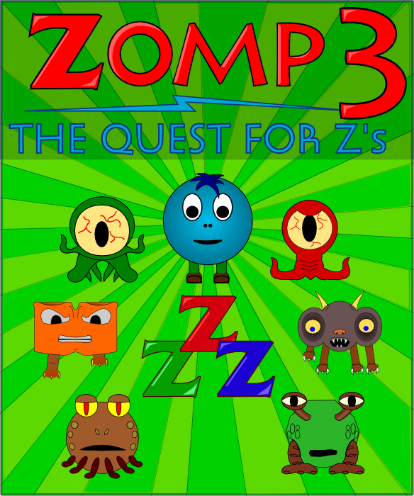 Zomp 3: The Quest for Z's Box Art - Puzzle game